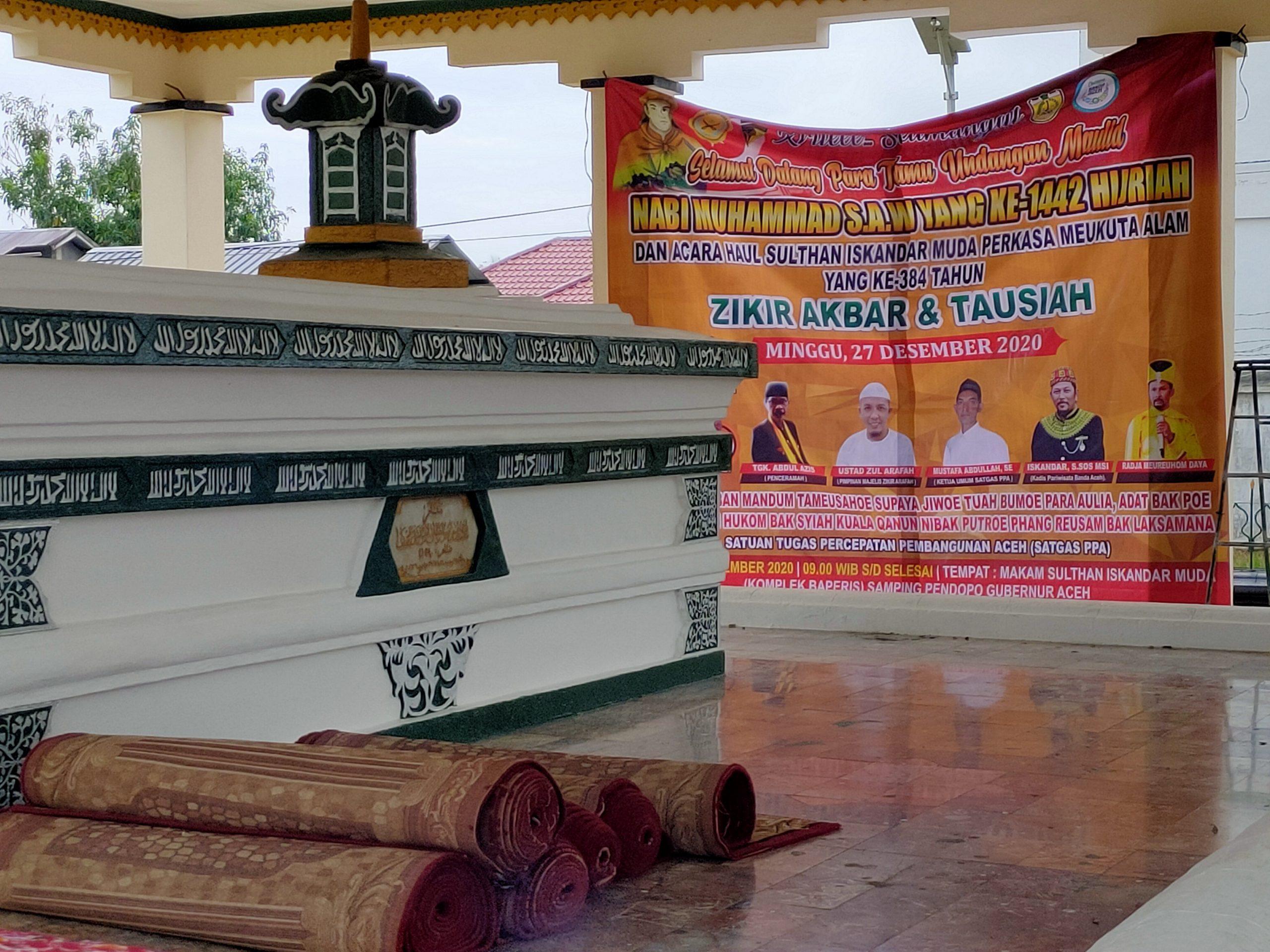 Haul Sultan Iskandar Muda Ke 384 Besok 27 Desember 2020 Aceh Monitor